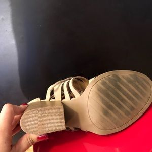 Rue21 Shoes - Rue 21 Tan Lace Up Wedge Heels Size 8